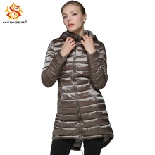 hydiber 2017 New Arrival Fashion Women Slimming Winter Long Parkas Ladies Dark Green Hooded Black Long Sleeve Coats Plus Size XL