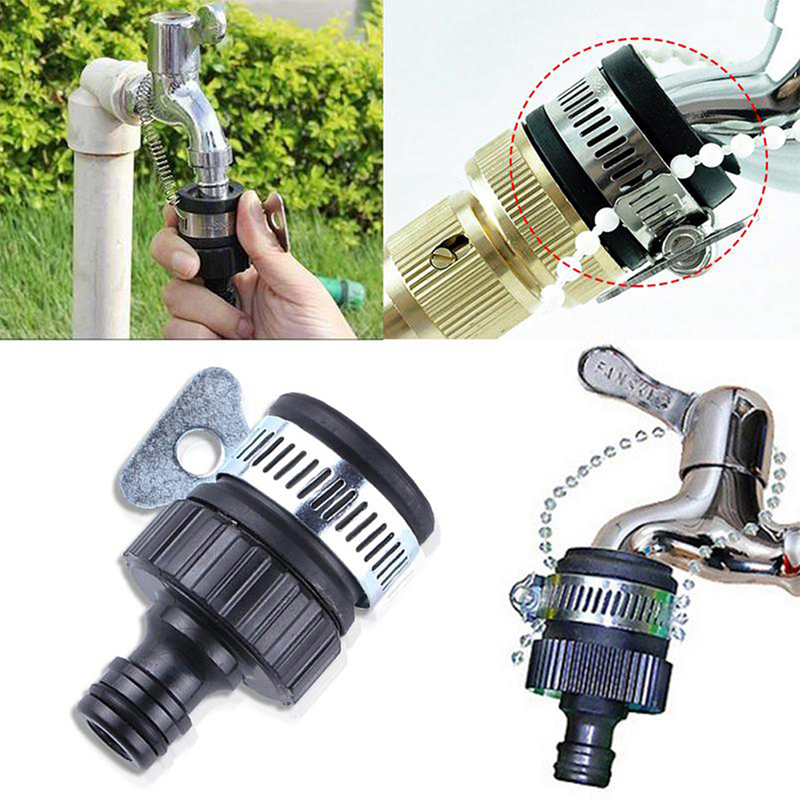2019 New Universal Garden Hose Pipe Tap Connector Mixer Kitchen Bath Tap Faucet Adapter Quick Connect Garden Accessories Outdoor