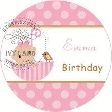 Новое нижнее белье для девочек, Бумага, индивидуальная клейкая наклейка/этикетки, детская игрушка в ванную платье, платье на день рождения, круг, 5 см, B24