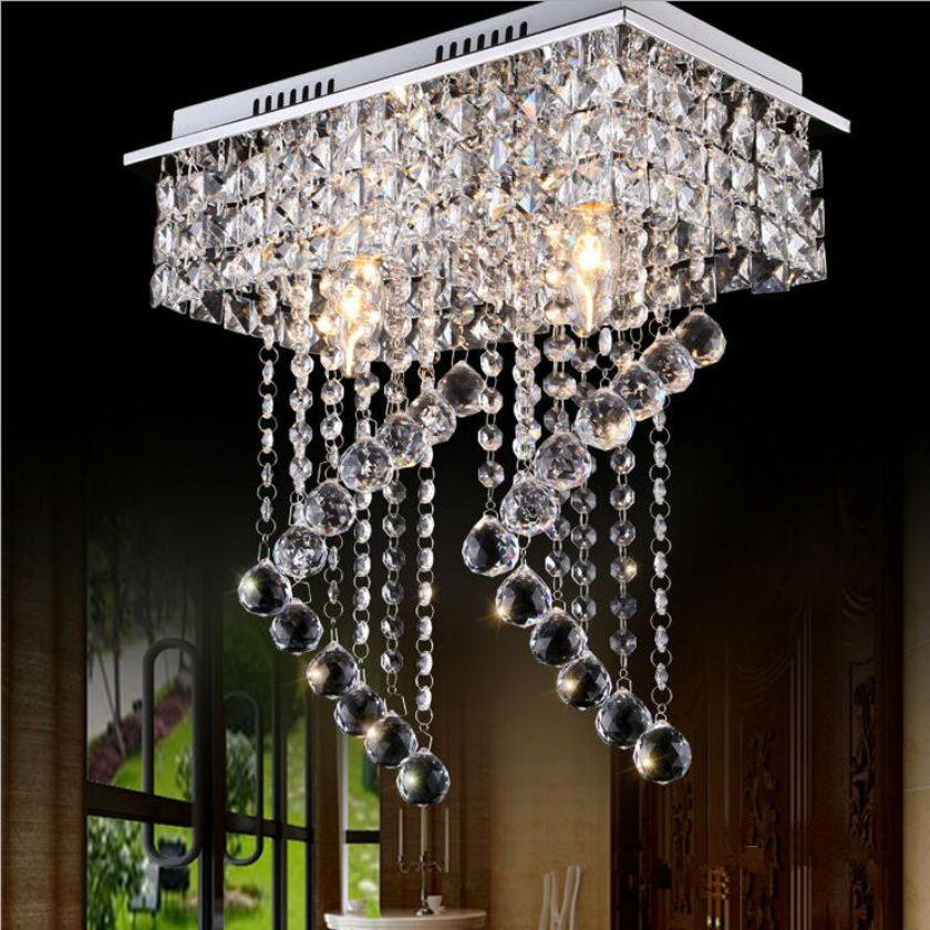 2017 Modern Crystal Ceiling Light Fixture Spiral Crystal Lamp Crystal lustre Light fitting LED for Aisle Hallway Porch Staircase