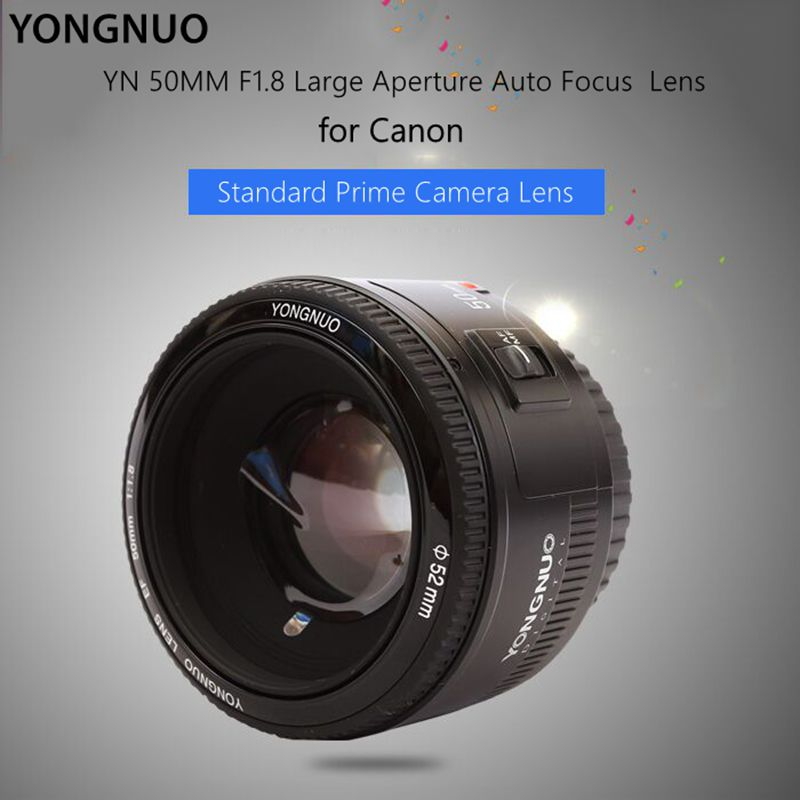 YONGNUO YN50mm f/1.8 AF Lens YN50 Aperture Auto Focus lenses Large Aperture for DSLR camera Canon EOS hot selling
