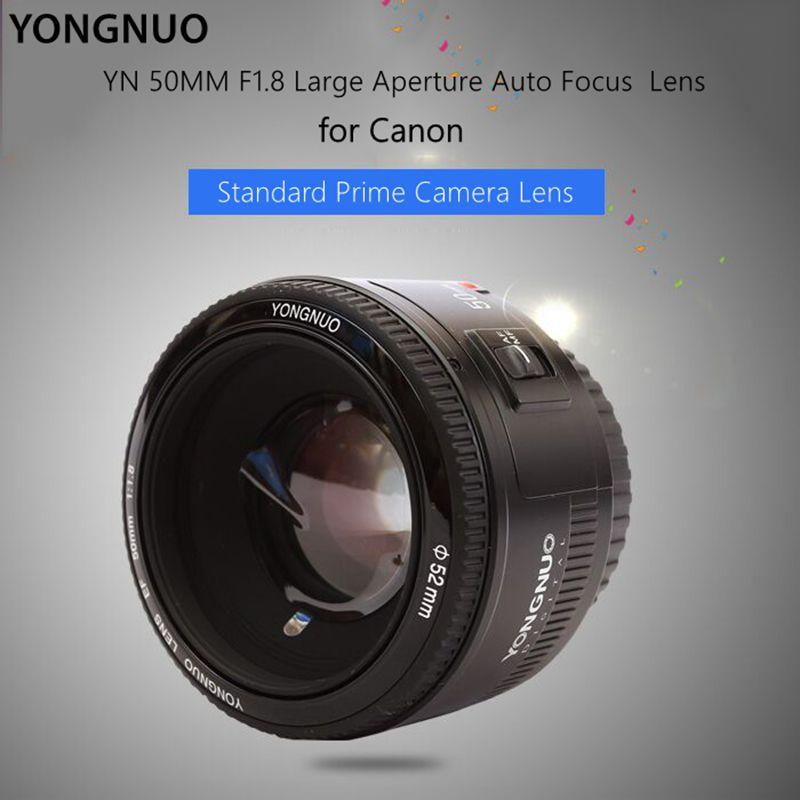 YONGNUO YN50mm f/1.8 AF Lens YN50 Aperture Auto Focus lenses Large Aperture for DSLR camera Canon EOS hot selling
