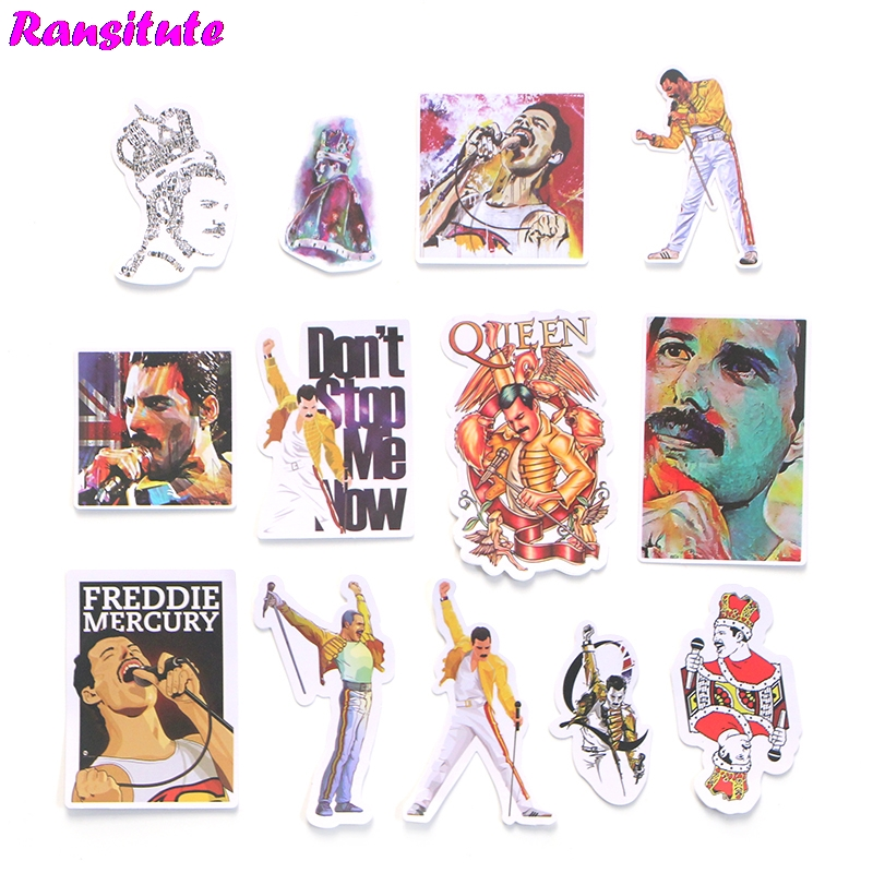 13pcs/set Freddie Mercury Doodle Sticker DIY Skateboard Laptop Luggage Mobile Phone Car Waterproof Sticker