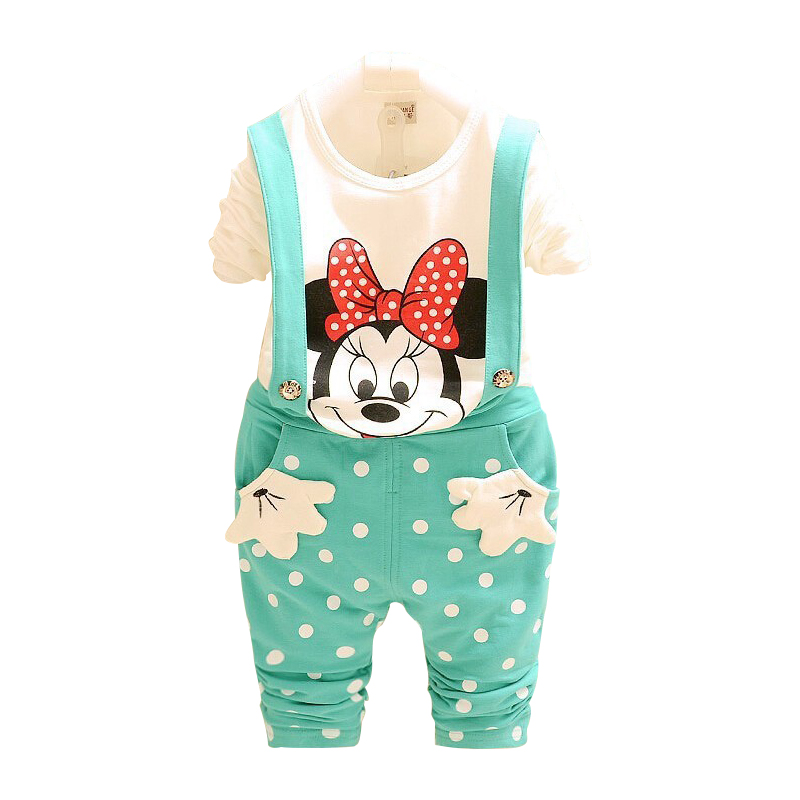 Baby Clothing Sets Cartoon Mickey & Minnie Mouse – for babies