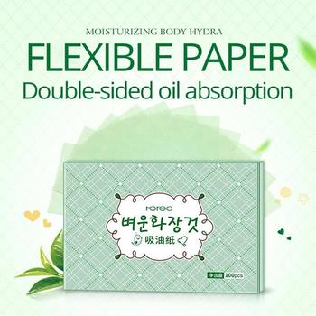100pcs Face Oil Blotting Paper Green Matting Face Wipes Facial Cleanser Oil Control Shrink Pore Face Cleaning Tool 1