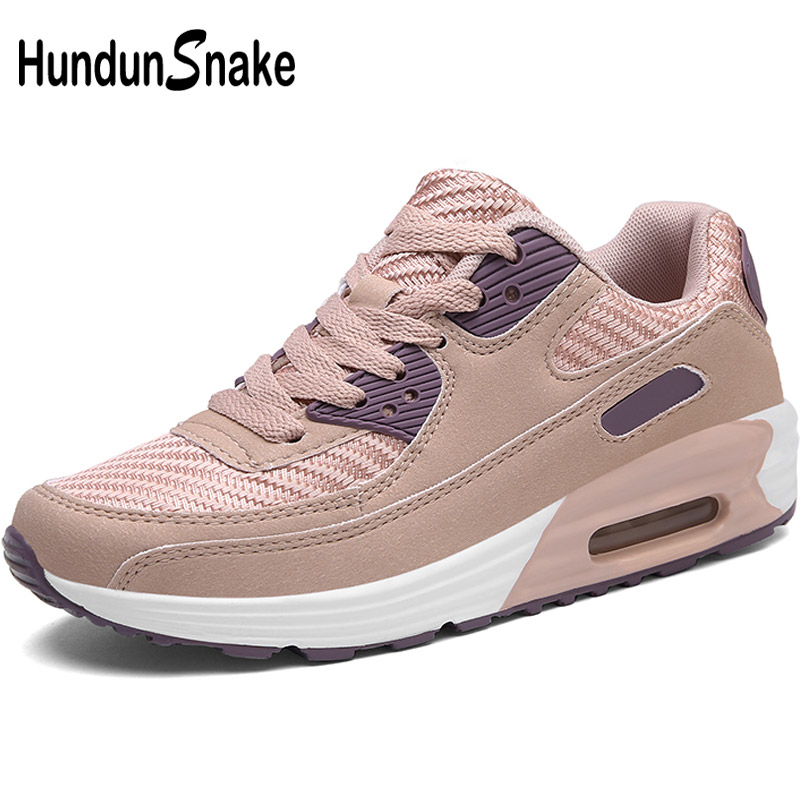Hundunsnake Pink Woman Sport Sneakers Women Air Cushion Running Shoes Women Summer Women's Sport Shoes Ladies Sports Shoes T305