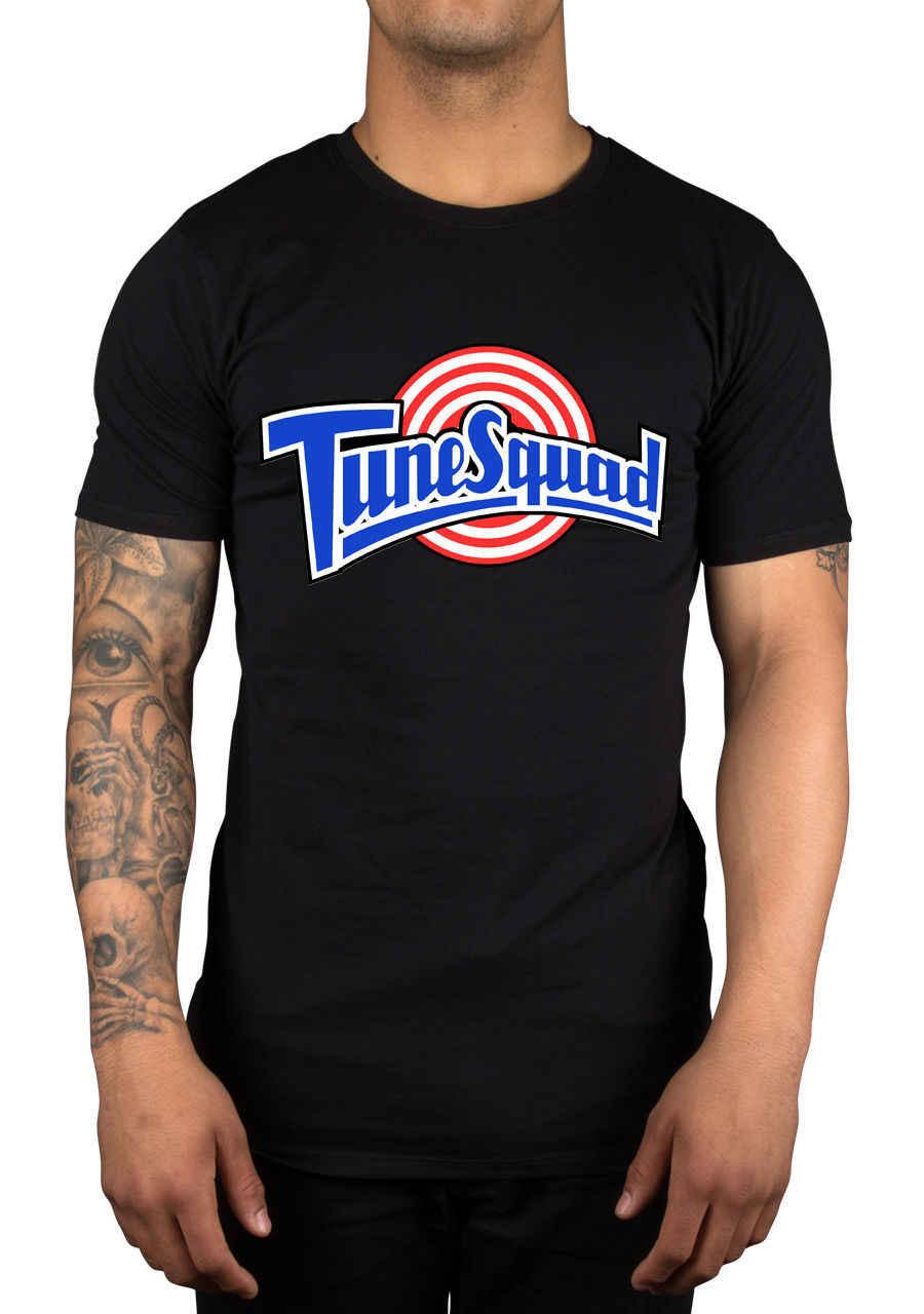Tune Squad T-Shirt Basketballer śmieszne Retro Slogan Swag Slogan mężczyzna przestrzeń dżem nowy 2018 bawełny z krótkim rękawem T Shirt