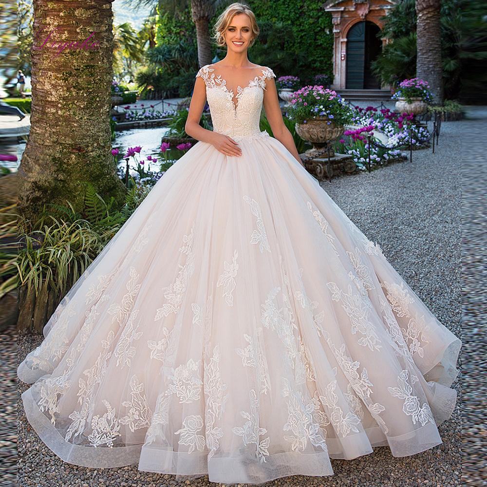Sale Liyuke 2019 Married Wedding Dress Ball Gown