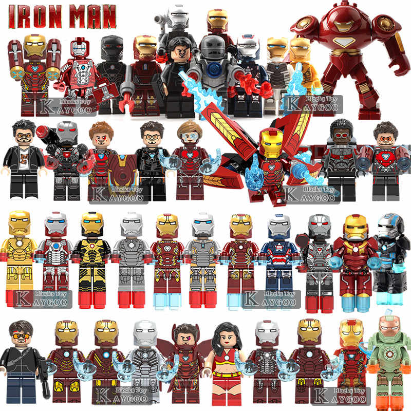 Iron Man MK50 Single Sale Avengers Super Hero Compatible Legoingly Figures Building Blocks Bricks Set Model Toys For Children
