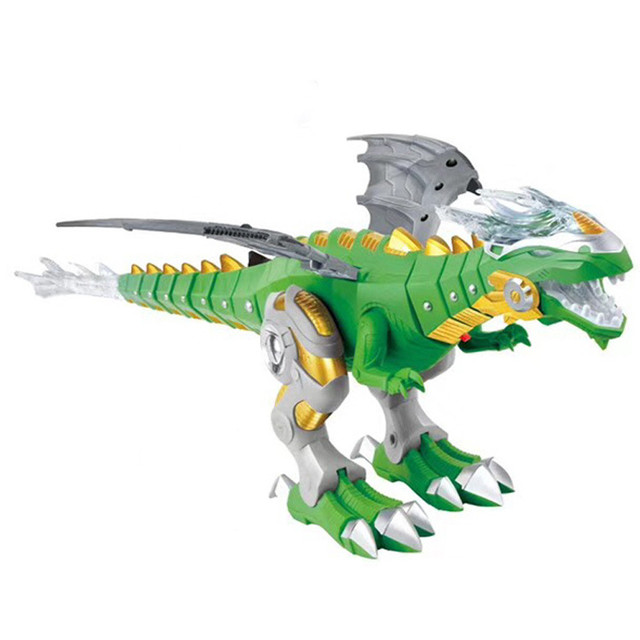Crianças Divertido Brinquedo de Plástico Spray de Fogo/Água Pé Dragão Modelo Dinossauros Crianças Meninos Animais DIY Aprendizagem educação Brinquedos topo presente