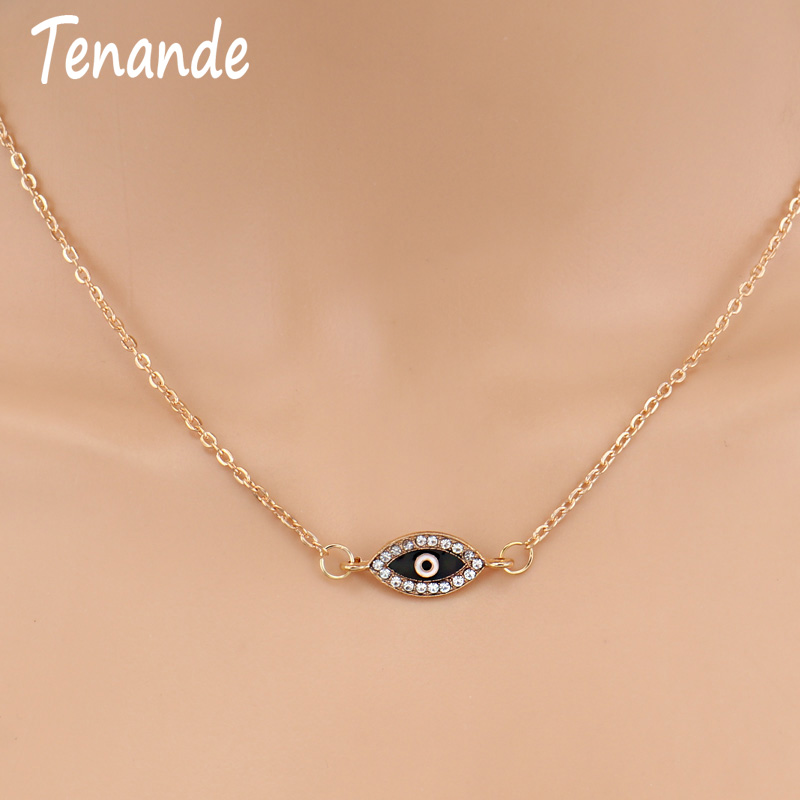 Tenande Fresh Style Gold Color Charm Chain Small Crystal