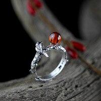 The Character Of Silver Zuyin Jewelry Matt Seiko Design Silver Garnet Ring Opening Ms Xishangmeishao