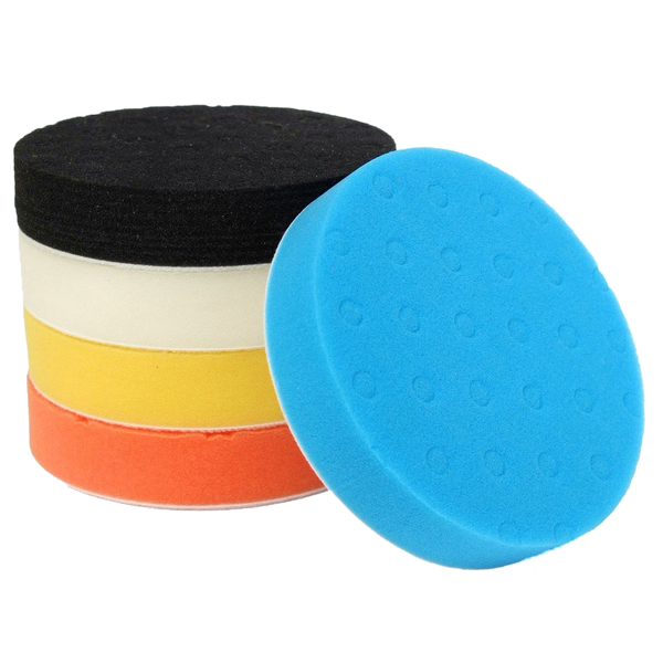 Set of 5PCS 3 Buffing Polishing Sponge Pads Kit for Car Polisher