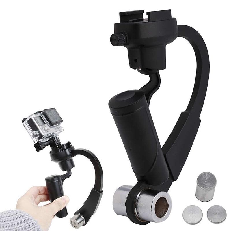 OOTDTY Mini Handheld Camera Stabilizer Steadicam Gimbal Video para - Cámara y foto