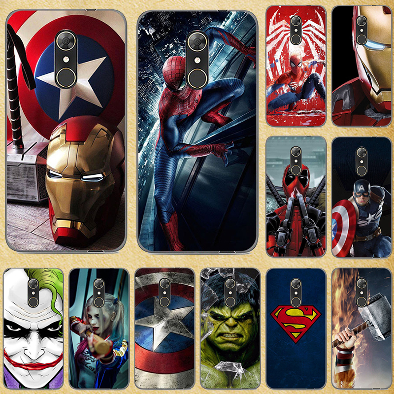 Super Hero Phone <font><b>Case</b></font> Cover For <font><b>Alcatel</b></font> 3C 3X 5 5V <font><b>A3</b></font> A7 <font><b>XL</b></font> Plus Soft Silicone Back cover Bags For <font><b>Alcatel</b></font> U5 3G 4G HD Bags image