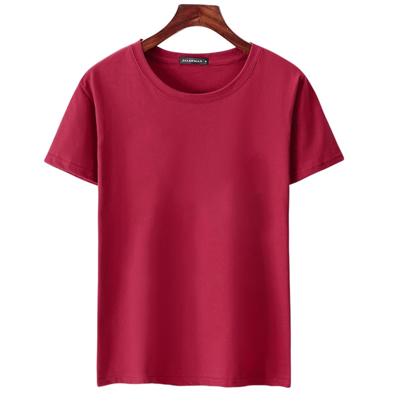 6pcs Lot T Shirts Men Women Cotton Summer Short Sleeve Solid Male Female Fitted Tshirts Top Tees O-Neck Plus Size Tee shirt MuLS 09