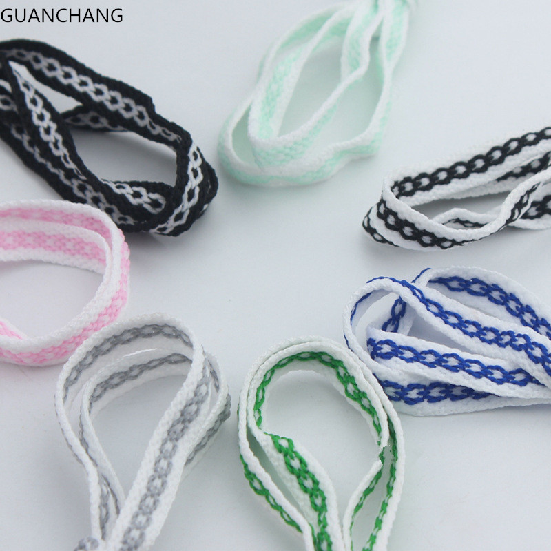 Wide Of Flat Striped Shoelaces Shoe Laces For Unisex Sneaker Sport Casual Canvas Boots Shoes Strings Ropes Dropshipping Fashion weiou fashion flat silk ribbon shoelaces princess sneaker colorful sport shoes laces with 2cm width metal aglets drop shipping