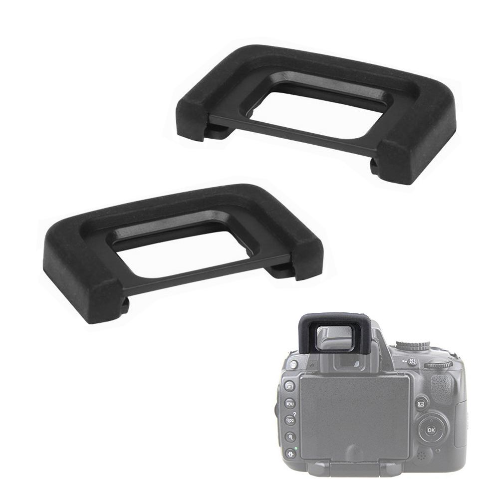 2PCS DK25 DK-25 Rubber Eyecup Viewfinder Eyepiece Eye Cup For Nikon D3300 D3200 D3100 D3000 D5500 D5300 D5200 D5000