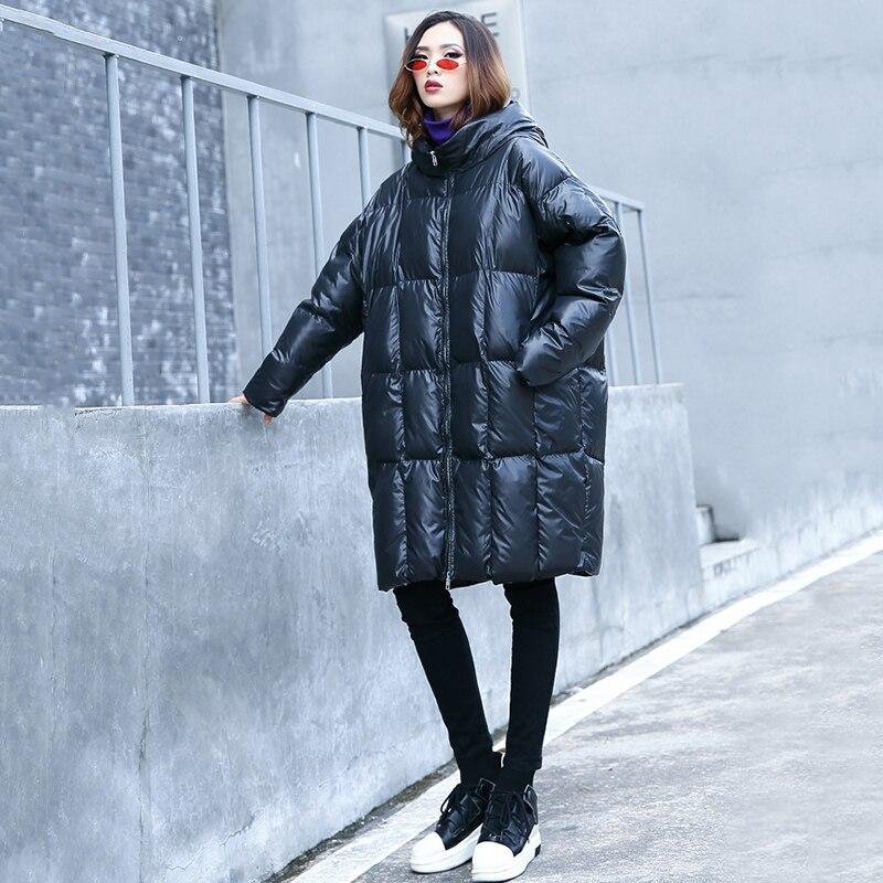 Matelassé Mode Taille Black Épais Longues Capuchon Ouatinée Coton Manteau Nouveauté À 2019 Femmes Grande Surdimensionné Hiver Veste sdthQr