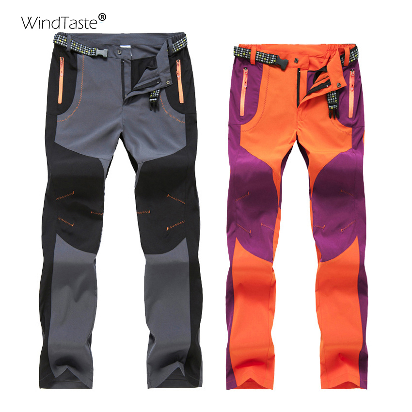 WindTaste Men Women Hiking Thin Pants Outdoor Softshell Trousers Spring Autumn Windproof For Camping Skiing Climbing KA104