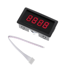 цена на Digital Counter DC LED 4 Digit 0-9999 Up/Down Plus/Minus Panel Counter Meter with Cable