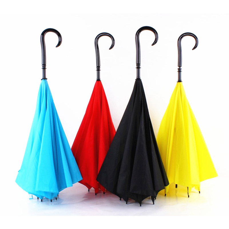 New Style Upside Down Umbrella Fashion Reverse Design Opposite Folding Novelty Umbrellas Windproof Clear/Rain Umbrella women