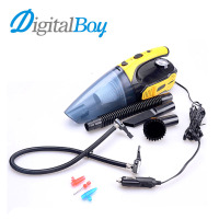 Multi Function Car Cleaner Vacuum 12V Tire Inflated LED Light 120W Car Clean Wet Dry Dust