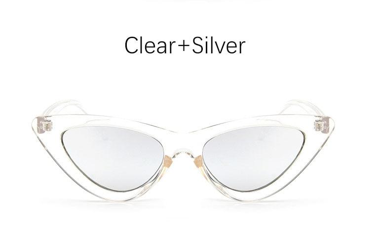 cat eye shade for women fashion sunglasses brand woman vintage retro triangular cateye glasses oculos feminino sunglasses Sexy 15