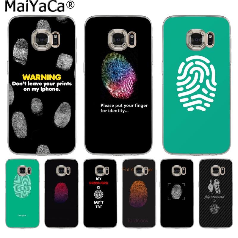 MaiYaCa Stylish thumb lock screen Painting Phone Case Slim Cases for Samsung S9 S9 plus S5 S6 S6edge S6plus S7 S7edge S8 S8plus