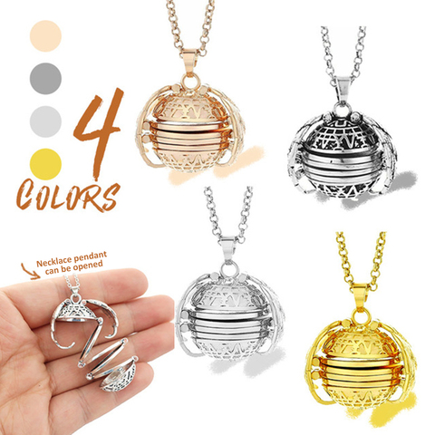 Magic Photo Openable Locket Pendant Memory Locket Angel Ball Necklace Plated Wings Flash Box Album Gift For Pregancy Mother Lahore