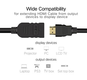 Image 2 - Hdmi 延長ケーブルオス 1 メートル/2 メートル/3 メートル/5 メートルの hdmi 4 18k 3D 1.4 1.4v hdmi 延長ケーブル hd テレビ液晶ノートパソコン PS3 プロジェクター