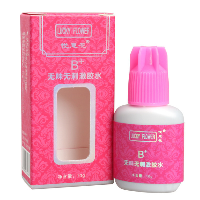 Lucky Flower 10ml Eyelash Glue B+ Quick Dry No Odor Non Irritation Strong Adhesive Black Glue For Eyelashes Extension