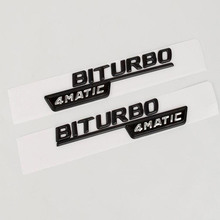 Стайлинга автомобилей 3D ABS 1 пара BITURBO TURBO 4 MATIC эмблемы буквы Автомобиль переднее крыло наклейки для Mercedes Benz 4 matic