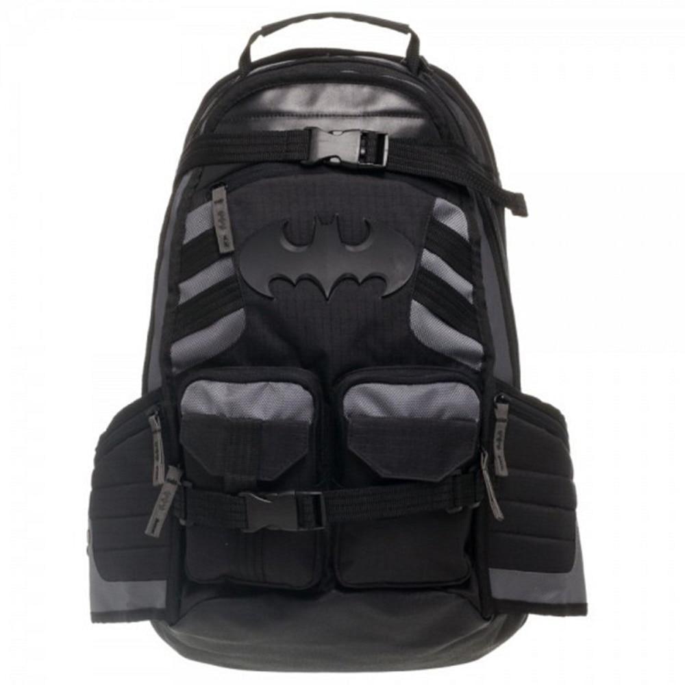 Marvel Batman laptop backpack good quality men's double Multi-pocket design shoulder bag black bag цена
