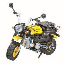 دراجة نارية نموذج بناء كتل مجموعة الفائز تكنيك الخالق دراجة نارية الطوب الكلاسيكية نموذج سيارة الاطفال لعبة للأطفال هدية