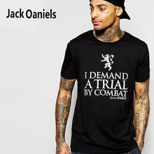 """Tyrion Quote """"I DEMAND A TRIAL BY COMBAT"""" Men's Summer T-Shirt"""