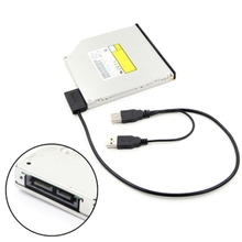USB 2.0 Type A To 13Pin(7+6) SATA Adapter Cable External Power For CD-ROM DVD-ROM bookplate designs cd rom