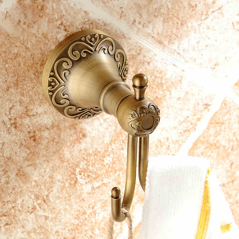 Free Shipping European Style Dual Bathroom Hook Decorative