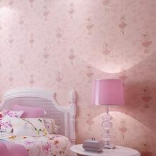 Childrens Room Ballet Princess Wallpaper Pink Dancing Girls Environmentally Friendly Cartoon Wall Paper Roll