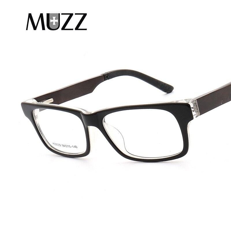 MUZZ Optical Eyeglasses Frame Prescription Glasses Acetate Wood Pattern Full Rim Spectacles men Women Eyewear Reading Glasses