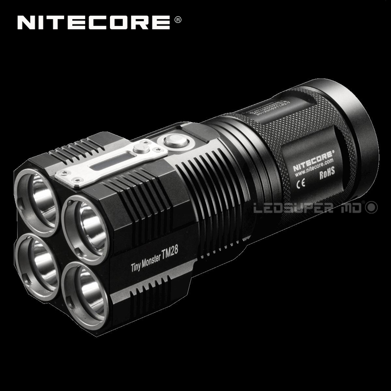 Prezzo di fabbrica Nitecore TM28 Mostro Piccolo CREE XHP35 HI LED Ricaricabile Faro 6000 Lumen Torcia Elettrica con Display OLED
