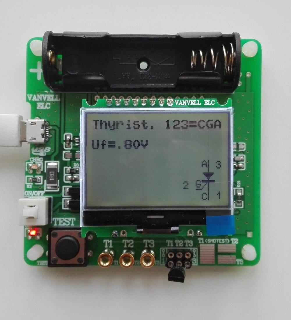3.7 V version de inductance-condensateur ESR mètre DIY MG328 multifonction testeur
