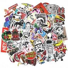 100 unids impermeable mixta diy de la motocicleta moto bike equipaje skateboard laptop sticker car styling car stickers decal sticker decal