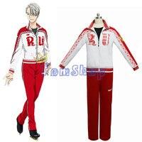 Anime Yuri!!! on Ice Victor Nikiforov Cosplay Uniform Suit Jacket Pants Men Women Costumes Sportswear