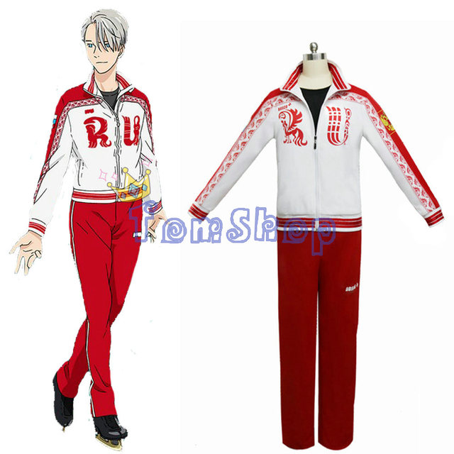 Anime Yuri!!! on Ice Victor Nikiforov Cosplay Uniform Suit Jacket Pants Men Women Costumes Sportswear