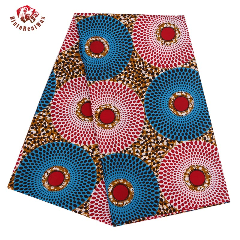 2017 Ankara African Polyester Wax Prints Fabric Super Hollandais Wax High Quality 6 Yard African Fabric