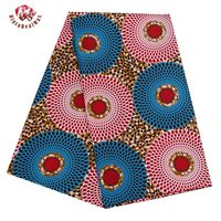 2017 Ankara African Polyester Wax Prints Fabric Super Hollandais Wax High Quality 6 Yard African Fabric
