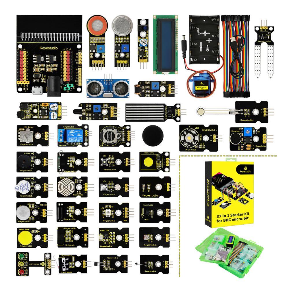 Keyestudio 37 In 1 Sensor Starter Kit For BBC Micro:Bit (NO Micro:Bit Board )