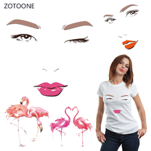ZOTOONE Trend Girl Iron on Transfer Patches Clothing Diy Patch Heat for Clothes Decoration Stickers Accessories G