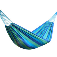 Garden Swing Canvas Portable Outdoor Travel Hammock Sports Stripe Camping Single Person Hammock Hang Bed